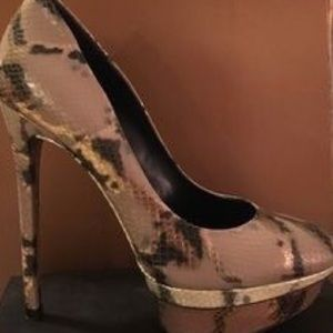 Brian Atwood Shoes - Brian Atwood Python Platform Pumps