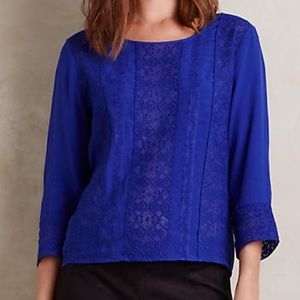 Anthropologie Tops - NWT Anthropologie Meadow Rue Blue Salina Blouse XS