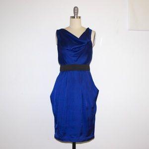 H&M Dresses & Skirts - H&M Silk Navy Blue Cocktail Dress 2 XS