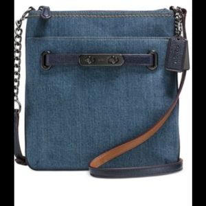 Coach Denim/Navy Leather Swing pack