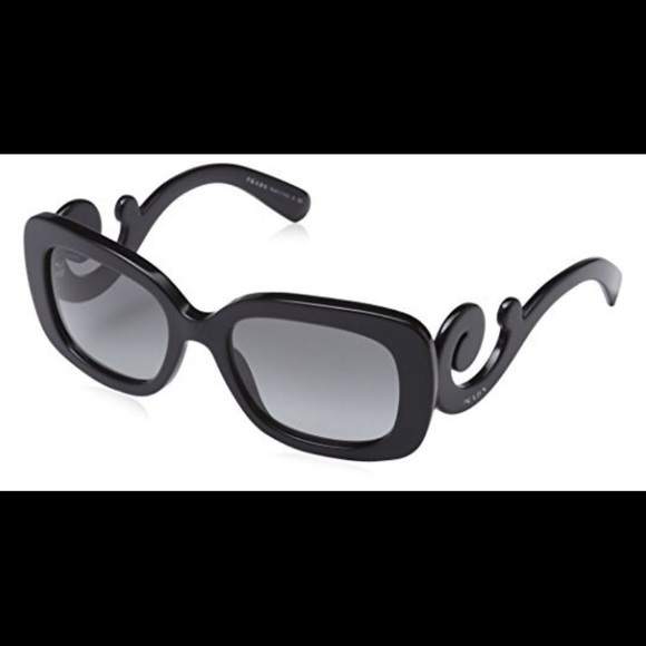 ef6a67f47485 Prada Swirl Sunglasses Black Rectangular SPR 270. M 57c9f47f13302aaf6300532b