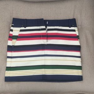 J.Crew Striped Mini Skirt