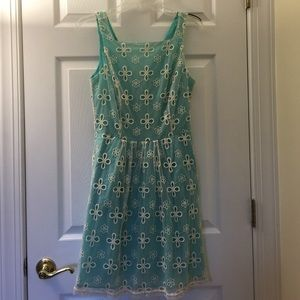 Dresses & Skirts - Lace overlay sleeveless dress with pockets