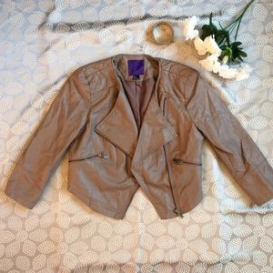 Faux Leather Tope Jacket