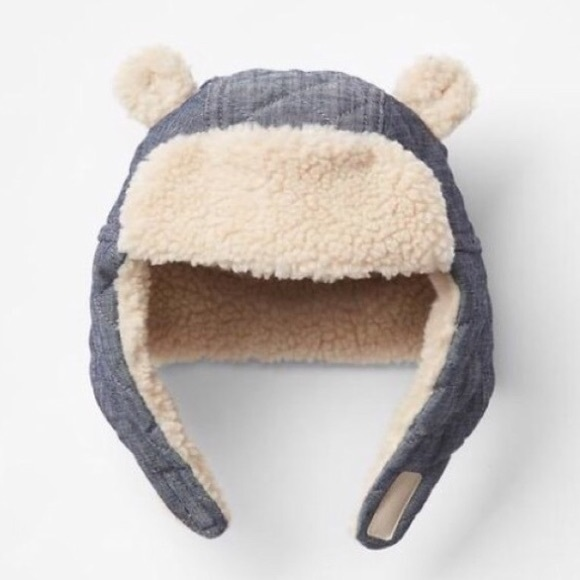 c0f869fbb1d22 GAP Other - Baby Gap Trapper Hat (Chambray + Sherpa)