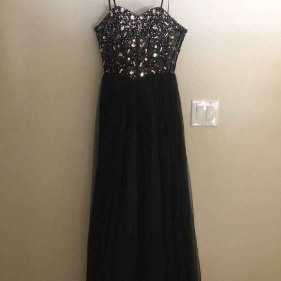 52% off Blondie Nites Dresses & Skirts - Black corset prom dress ...