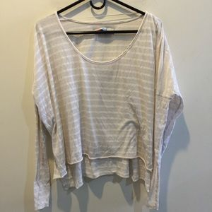 FREE PEOPLE Beach Tan Long Sleeve Top