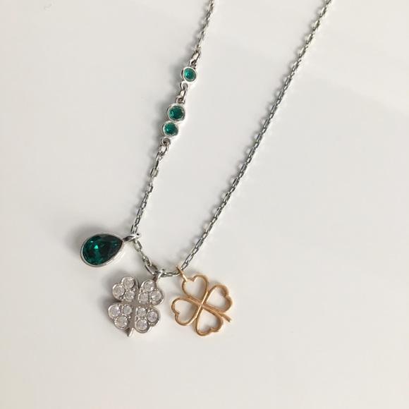 332044581 Swarovski Jewelry | Clover Duo Pendant | Poshmark