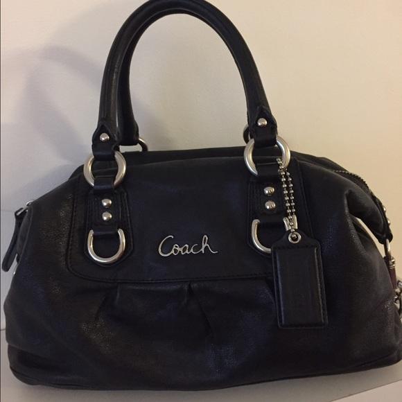 974b4a977af04 Coach Handbags - Coach Ashley Black Satchel Bag