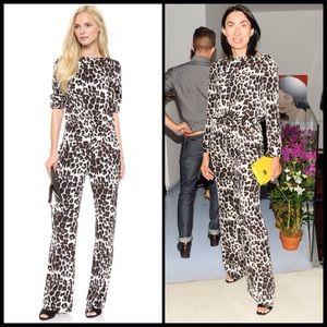 Diane von Furstenberg Pants - DVF ♠️ Cynthia Jumpsuit - Snow Cheetah NWT