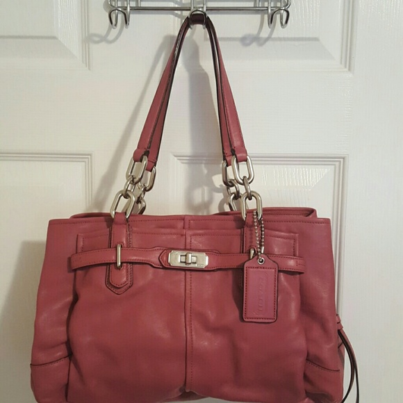 Coach Bags Purse Dusty Rose With Plenty Of Pockets
