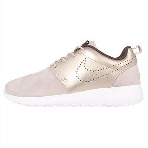 c77ad637f52e Nike Shoes - Nike Gold Tan Suede Roshe One (Roshe Run) Kicks