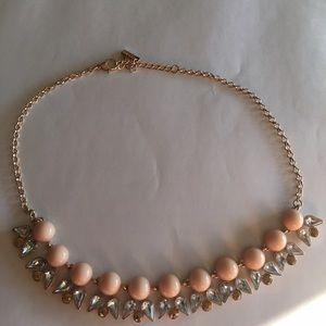 Jewelmint peach/gold statement necklace