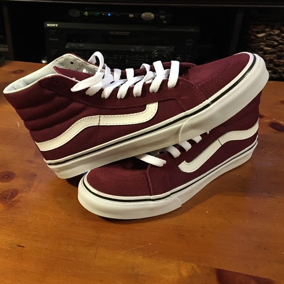 da3c399f28ab7f Vans Sk8-Hi Slim Windsor Wine Shoes (Womens). M 57ca18e5f739bc106b000e29