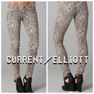 Current Elliott The Ankle Skinny Canvas Jeans