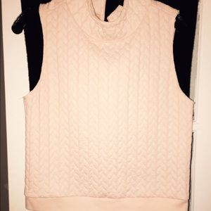 Pale pink shell top