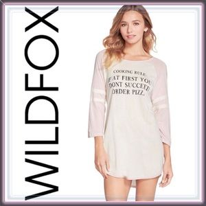 Wildfox Tops - Wildfox Cotton Jersey Graphic Tee Tunic