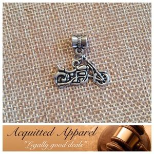 Acquitted Apparel Jewelry - Silver Harley Motorcycle Charm fits Pandora