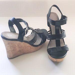 Aldo Shoes - Black Aldo Wedges