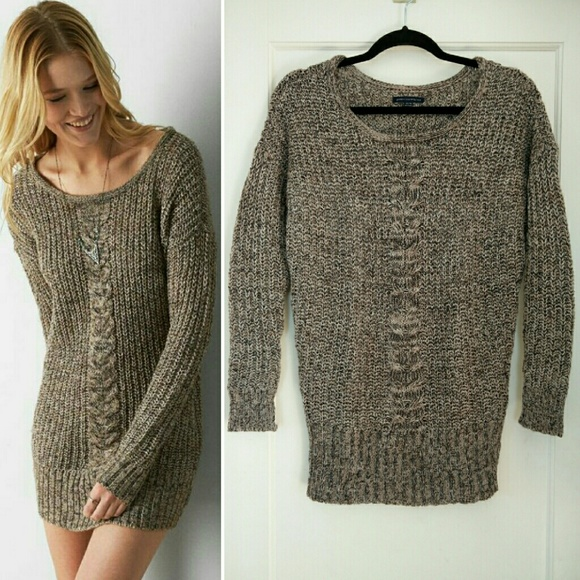 82% off American Eagle Outfitters Sweaters - Oatmeal AEO Cable ...