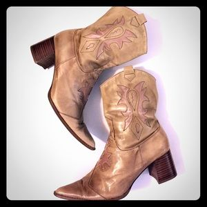 Shoes - Cowgirl / western genuine leather boots