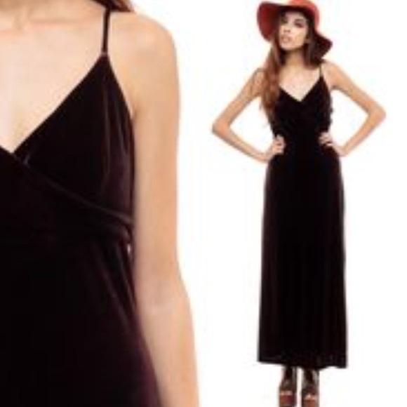 9147a1967e6 Vintage Black Velvet Beaded Slip Maxi Dress. M 57ca35a28f0fc4714b002a56