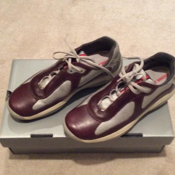 Prada Shoes | Burgundy Prada Shoes Mens