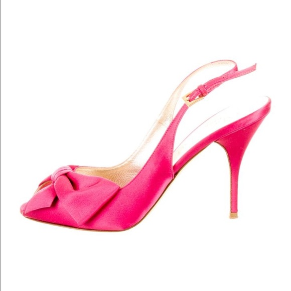 cheapest shop offer Valentino Satin Slingback Pumps with mastercard sale online koyjW4hZF
