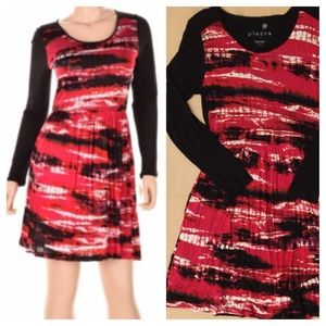 KENSIE Red, Black & White Dress 💕