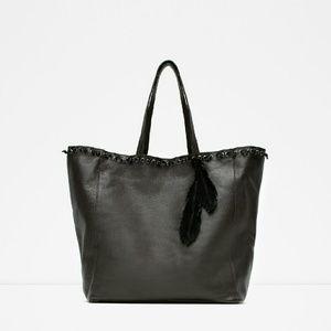 Zara leather totes (8066)