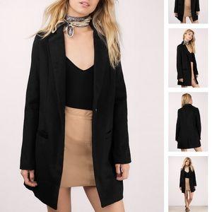 Black Tobi Blazer Coat