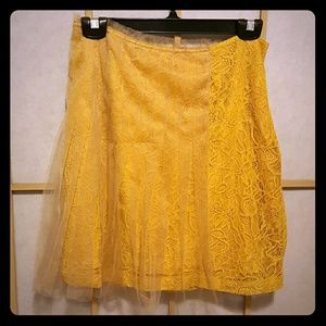 Rodarte for Target Mustard Lace Skirt