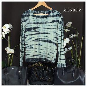 Monrow Tops - MONROW TYE-DIE SWEATSHIRT