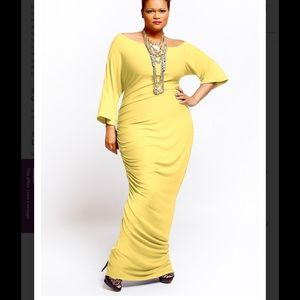Qristyl Frazier Designs Dresses & Skirts - Qristyl Frazier Designs yellow Empress dress 20 2x