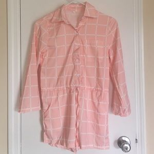Other - Pink Gridded Romper