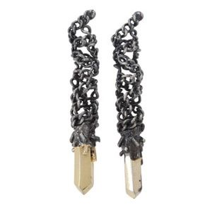 Obey Jewelry - Obey - Dark Matter Earring (Antique Gold)