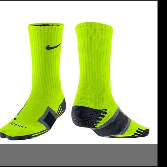 16162dcc8 Nike Accessories | Soccer Crew Socks Calf Volt Size Medium M | Poshmark