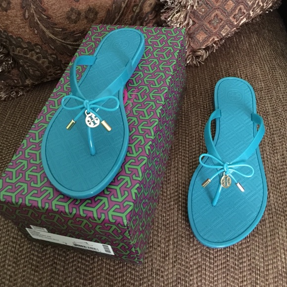 a341b18b7c08 Tory Burch Jelly Bow Thong Sandals
