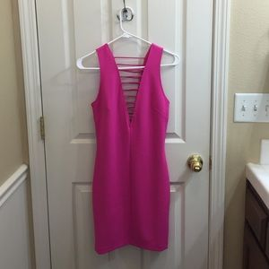 Hot pink H&M party dress