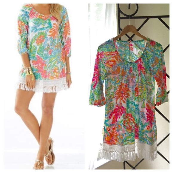 7979568121d76 Lilly Pulitzer Dresses   Skirts - Lilly Pulitzer ALIA BEACH COVER UP DRESS