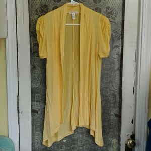Ambiance Apparel Sweaters - NWOT yellow cardigan