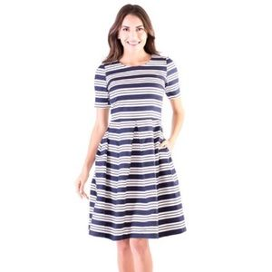 Downeast Basics Dresses & Skirts - NWT Downeast Basics Navy White Striped Dress