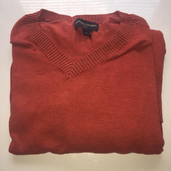 Banana Republic Sweaters Burnt Orange Sweater Mens Poshmark