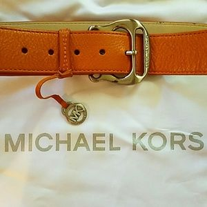 Michael  Kors tan belt with dustbag