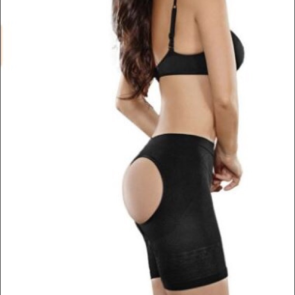 6adcd810cac2a BLACK Butt Lifter Tummy Control Seamless Panties