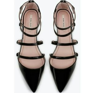 Zara Patent Pointed Toe Flats