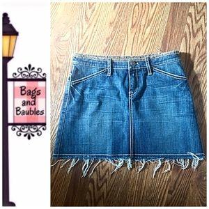 ELIE TAHARI Emory Denim Mini Skirt, Size 0