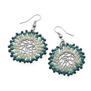 Jewelry - Round beaded fashion earrings
