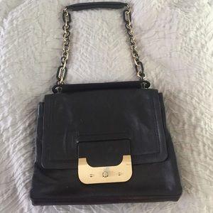 Black leather DVF Harper connect purse