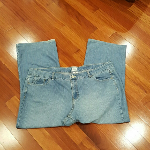 d8a77e1713 Just My Size Denim - Just my size 24W jean capris Havana wash